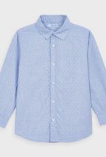 Mayoral L/S Printed Shirt Lt Blue 2-9