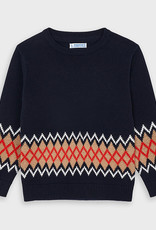 Mayoral Jacquard Sweater Navy 2-9