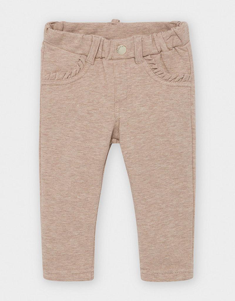 Mayoral Infant Slim Fleece Hazelnut Pants 6M-18M