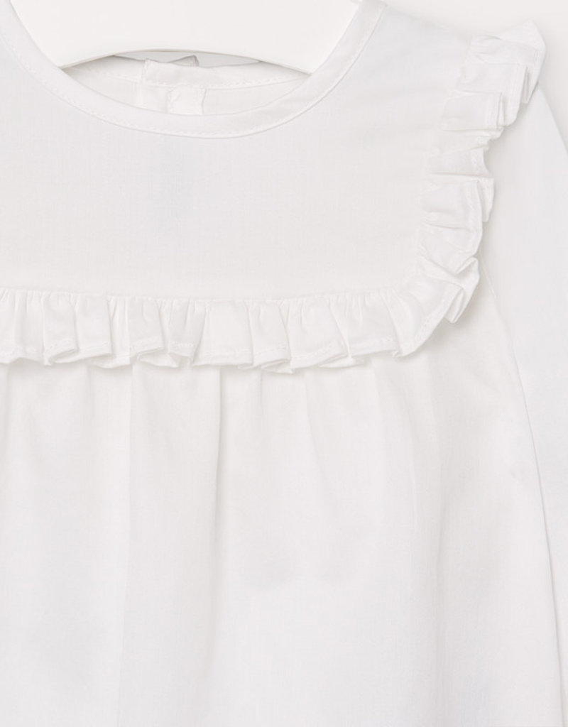Mayoral Infant Poplin Blouse White 9M-36M