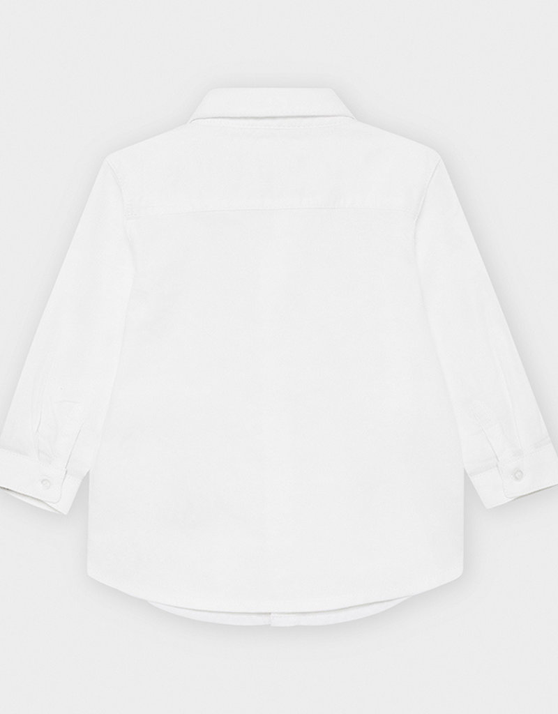 Mayoral Infant L/S Oxford Shirt White 6M-36M