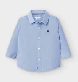 Mayoral Infant L/S Oxford Blue Shirt