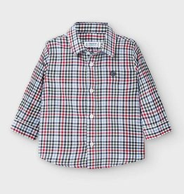 Mayoral Infant L/S Checked Shirt Red 9M-36M