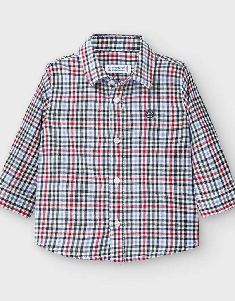 Mayoral Infant L/S Checked Shirt Red
