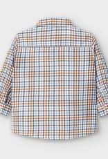 Mayoral Infant L/S Checked Shirt Orange 12M-36M