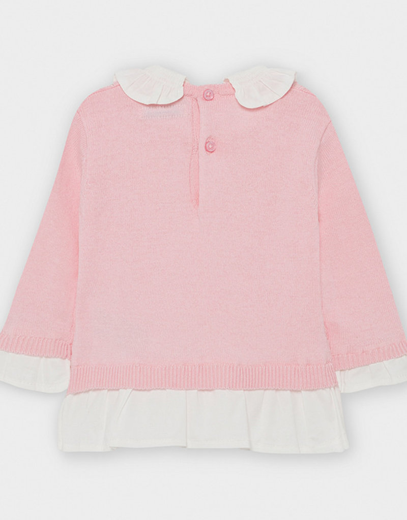 Mayoral Infant Combined Sweater Rose