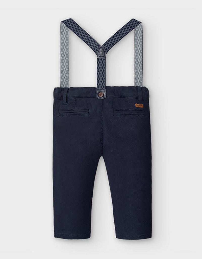 Mayoral Infant Chino Pants w/Suspenders Navy