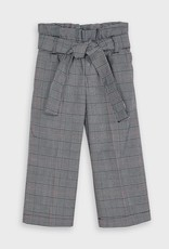 Mayoral Cropped Plaid Pants Navy 2-9