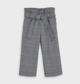 Mayoral Cropped Plaid Pants Navy 3-7