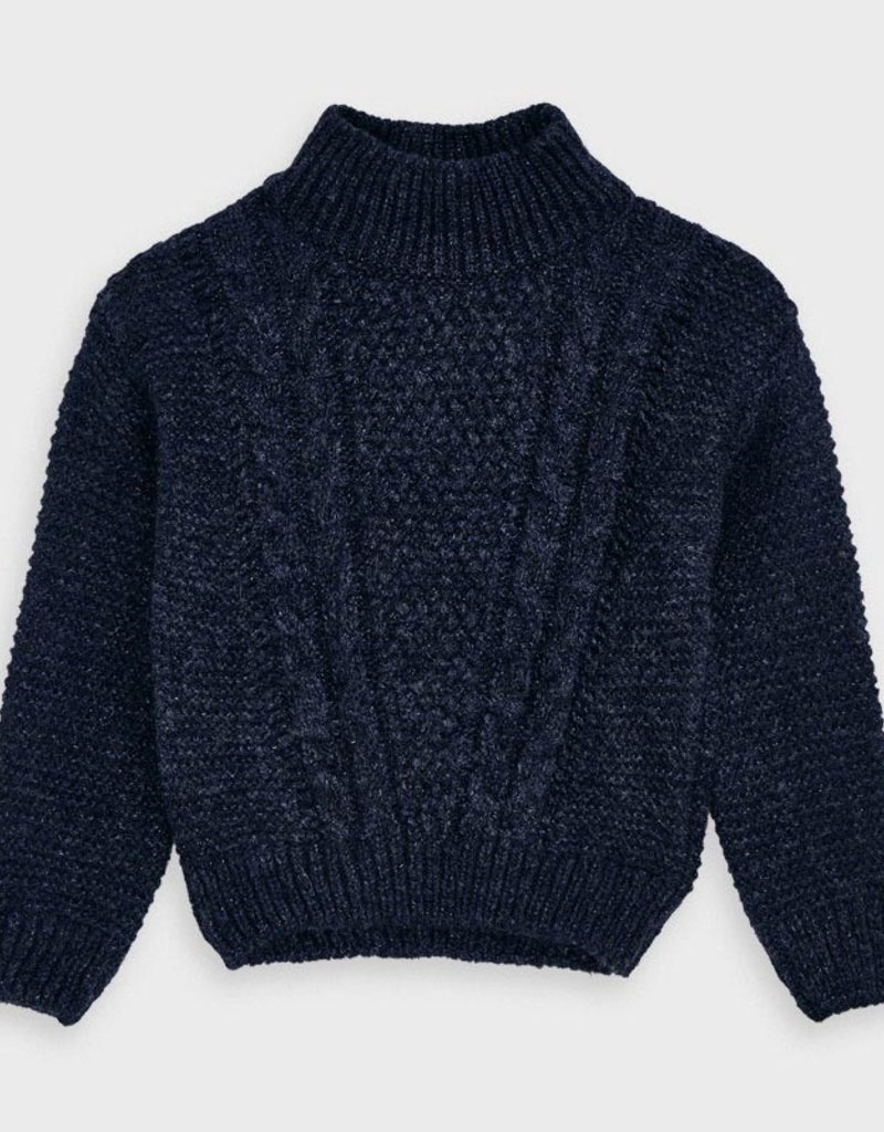 Mayoral Cable Sweater Navy 2-9
