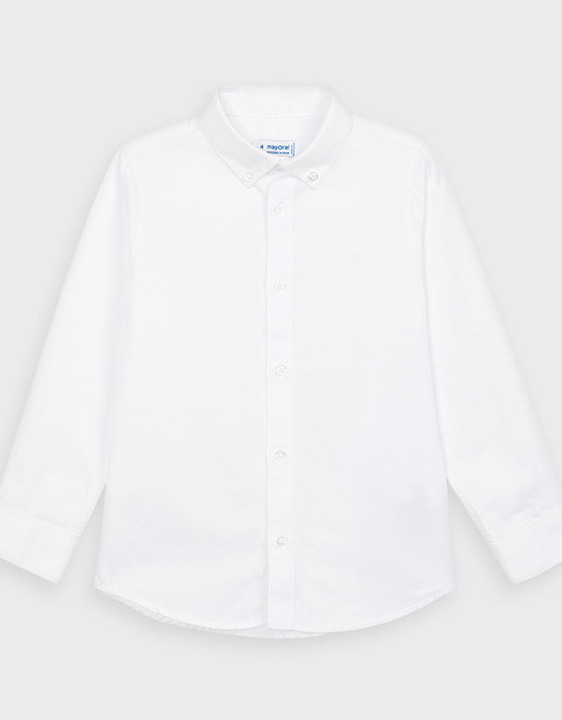 Mayoral Basic L/S Shirt White 2-9