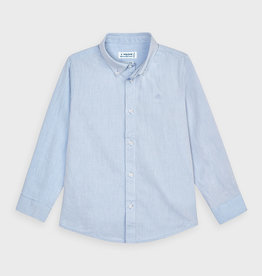 Mayoral Basic L/S Shirt Lt Blue 2-9