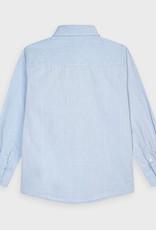 Mayoral Basic L/S Shirt Lt Blue 2-9