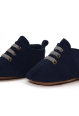 Zutano Navy Suede Leather Oxford Baby Shoe 6M-24M