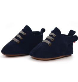 Zutano Navy Suede Leather Oxford Shoe 6M-24M