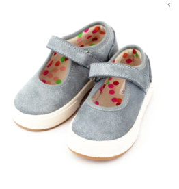 Zutano Charlotte Mary Jane Shoe Blue/Gray 7-13