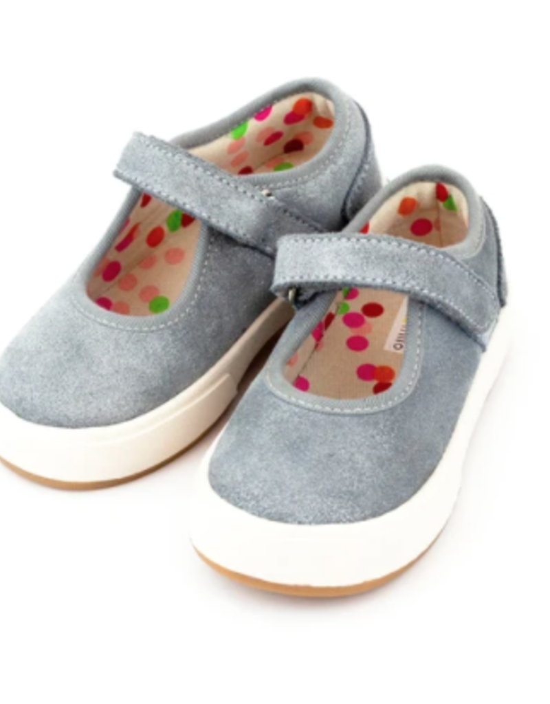 Zutano Charlotte Mary Jane Shoe Blue/Gray