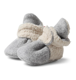 Zutano Furry Bootie Heather Gray 3M, 6M