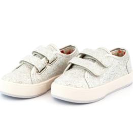 Zutano Nina Double V Shoe Silver 10, 12