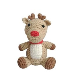 Zubels Dimple Rattle Crochet Reindeer