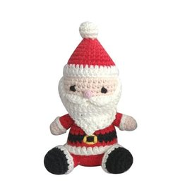 Zubels Dimple Rattle Crochet Santa