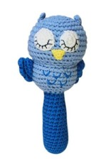 Zubels Owl Stick Rattle Blue