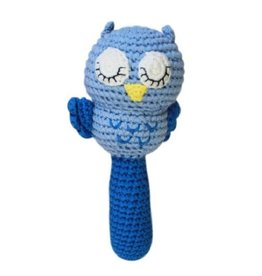 Zubels Stick Rattle Blue Owl