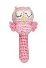 Zubels Owl Stick Rattle Pink