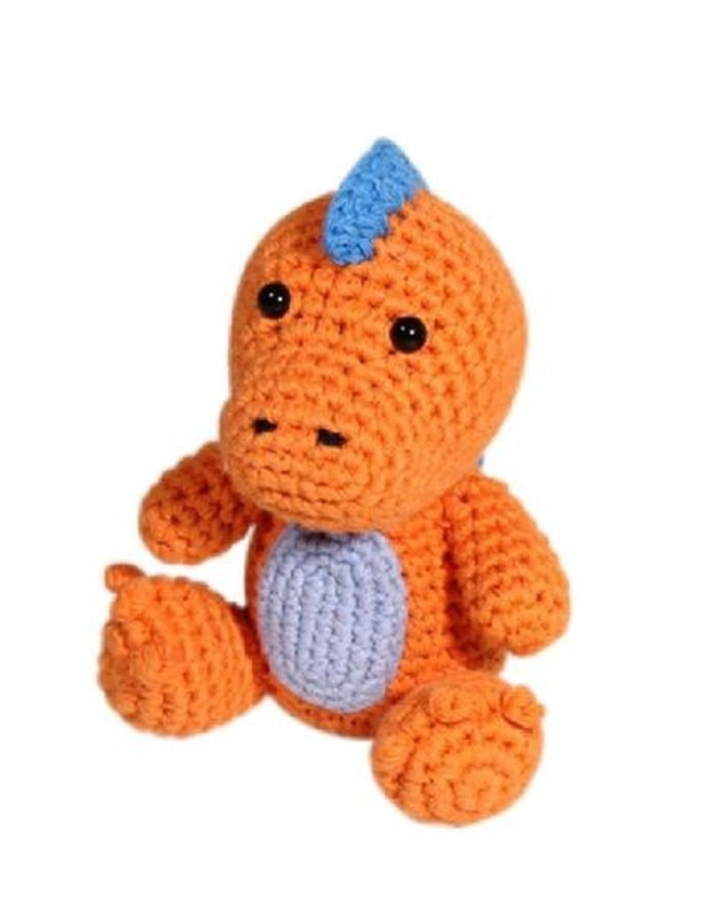 Zubels T-Rex Crochet Dimple Rattle