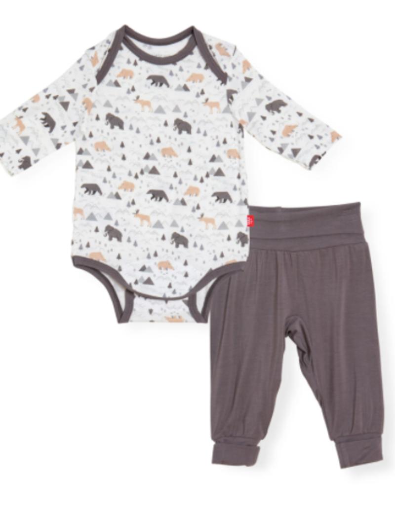 Magnetic Me Tiny Tundra Modal Bodysuit Pant Set 0/3M-9/12M