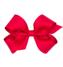 Wee Ones Tiny Pastel Matte Satin Bow Red