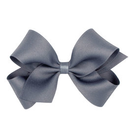 Wee Ones Tiny Pastel Matte Satin Bow Pewter