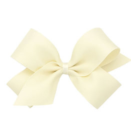 Wee Ones Tiny Pastel Matte Satin Bow Ant White