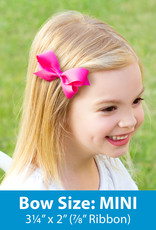 Wee Ones Mini Gingham Grosgrain Bow  Lt Pink
