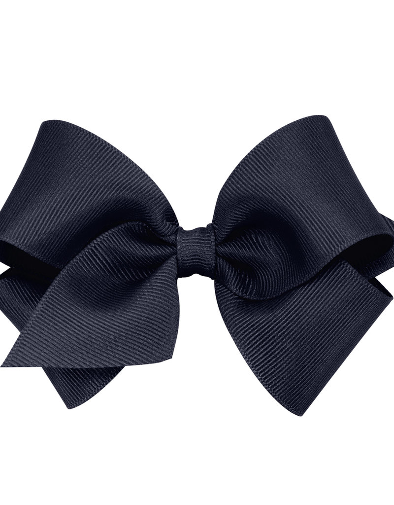 Wee Ones Small Grosgrain Bow Navy