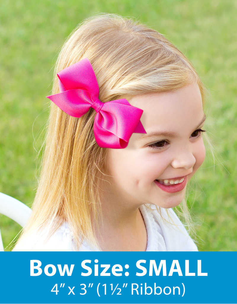 Wee Ones Small Grosgrain Bow Green
