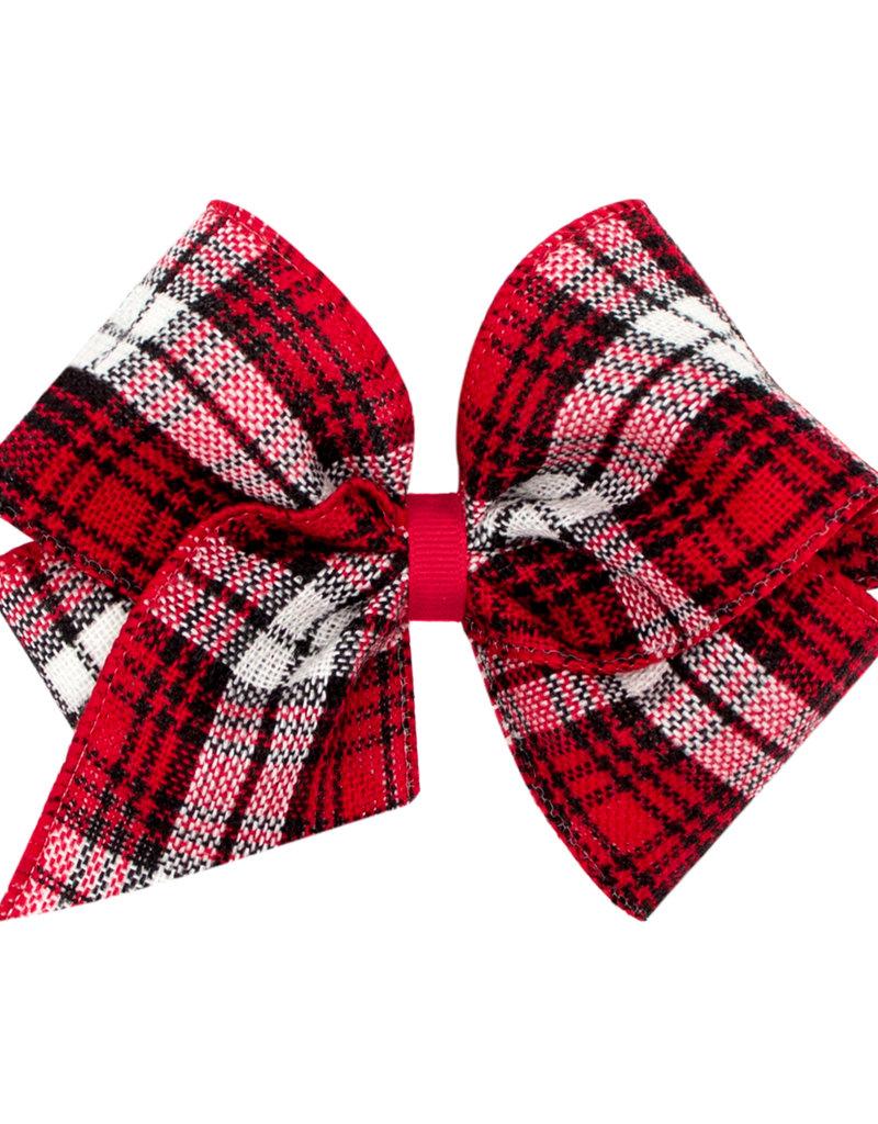 Wee Ones Mini King Plaid Christmas Red/Black/White