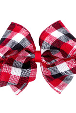 Wee Ones Mini King Plaid Christmas Red/Blk/White Check