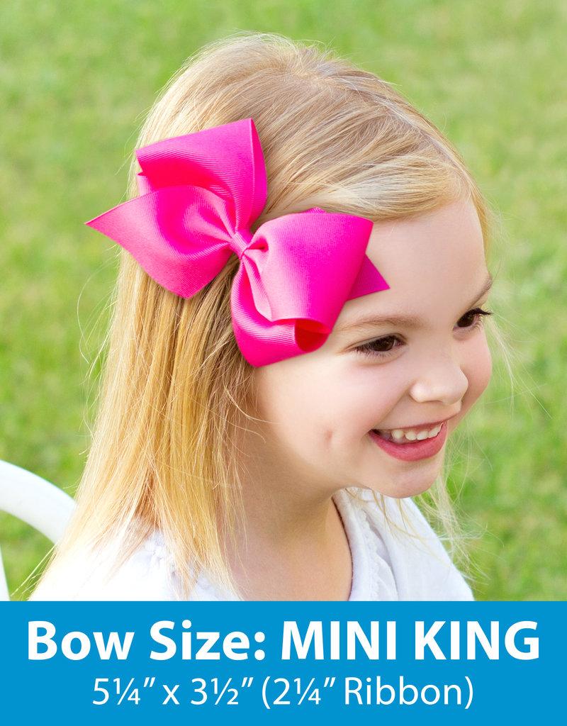 Wee Ones Mini King Grosgrain  Shocking Pink