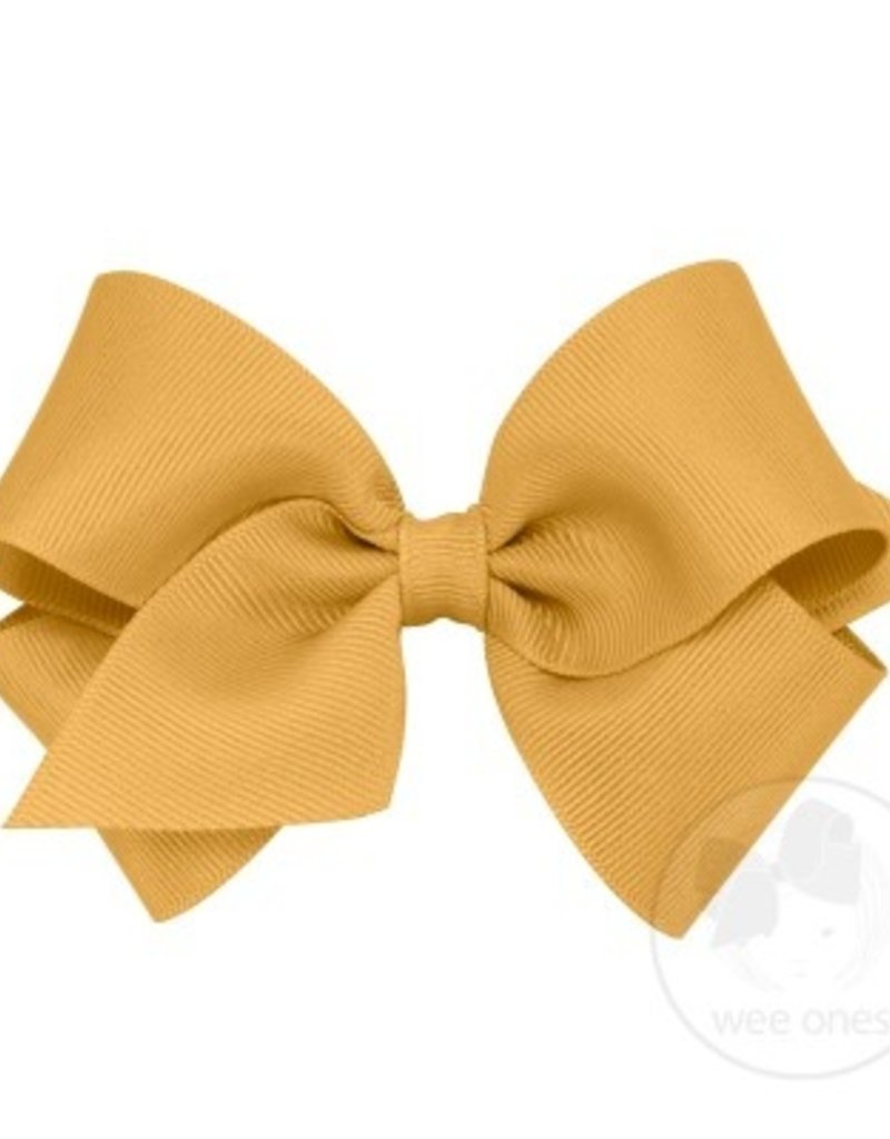 Wee Ones Small Grosgrain Bow Gold