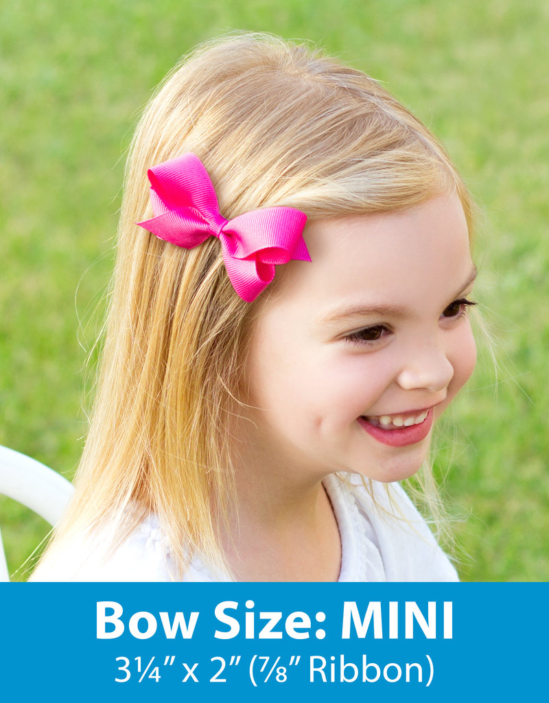 Wee Ones Mini Grosgrain Bow Hot Pink