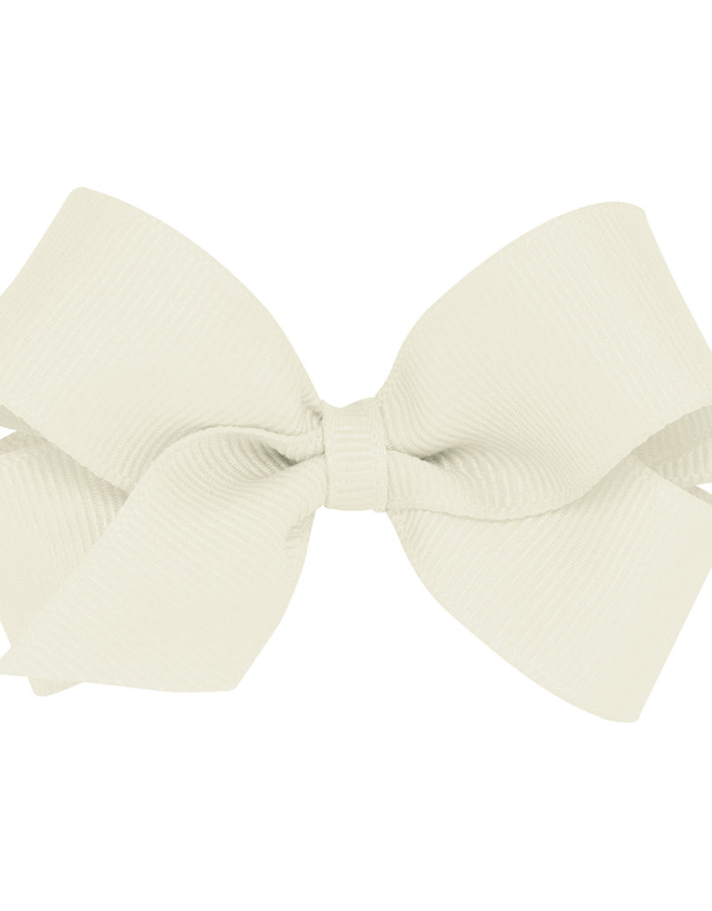 Wee Ones Mini Grosgrain Bow Antique White