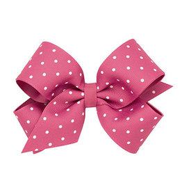 Wee Ones Med Dot Grosgrain Overlay Hot Pink