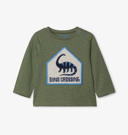 Hatley Dino Crossing L/S Tee 3/6M, 9/12M