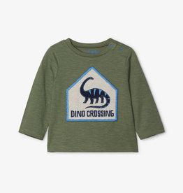 Hatley Dino Crossing L/S Tee 9/12M