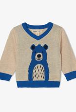 Hatley Cheerful Bear V Neck Sweater 3/6M-4T