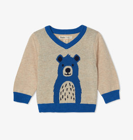 Hatley Cheerful Bear V Neck Sweater 6/9M-4T