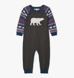 Hatley Fair Isle Polar Bears Sweater Romper 18/24M