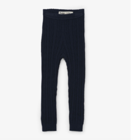 Hatley Cable Knit Navy Baby Leggings 6/12M