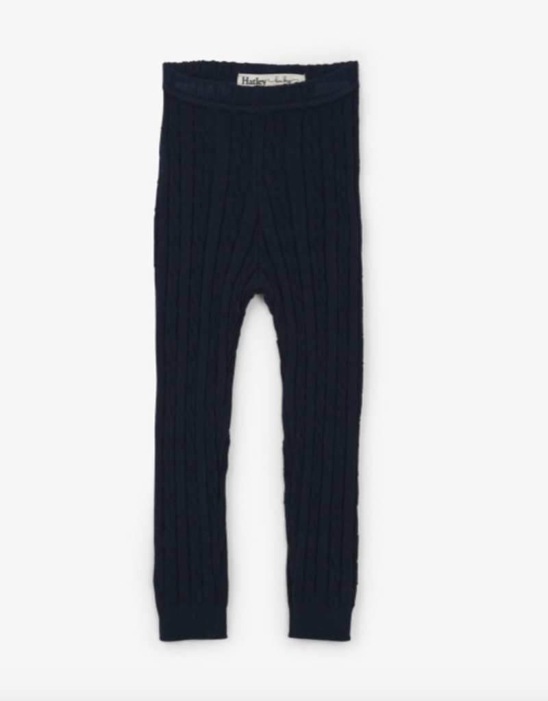 Hatley Navy Cable Knit Baby Leggings 0/6M-12/24M